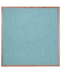 """Aarco OF4848012 Designer Fabric Grey Mix Bulletin Board with Oak Frame 48"""" x 48"""""""