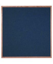 "Aarco OF4848028 Designer Fabric Black Bulletin Board with Oak Frame 48"" x 48"""
