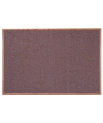 "Aarco OF4872003 Designer Fabric Rose Quartz Bulletin Board with Oak Frame 48"" x 72"""
