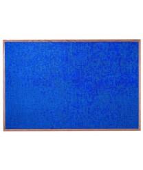 "Aarco OF4872014 Designer Fabric Wedgewood Bulletin Board with Oak Frame 48"" x 72"""