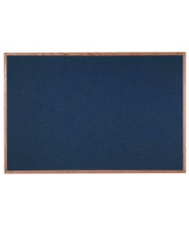 "Aarco OF4872028 Designer Fabric Black Bulletin Board with Oak Frame 48"" x 72"""