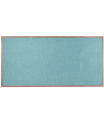 "Aarco OF4896012 Designer Fabric Grey Mix Bulletin Board with Oak Frame 48"" x 96"""