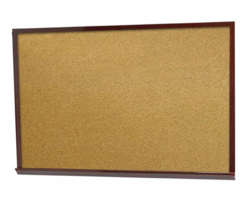 "Aarco DBO1824 Architectural High Performance Natural Pebble Grain Cork Bulletin Board with Oak Wood Grain Look Aluminum Trim 18"" x 24"""