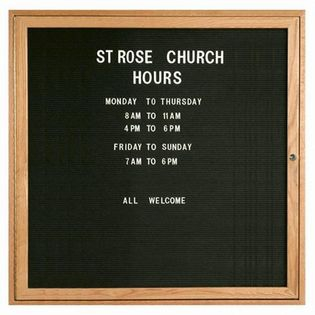 "Aarco ODC3636 1 Door Enclosed Changeable Letter Board with Oak Finish 36"" x 36"""
