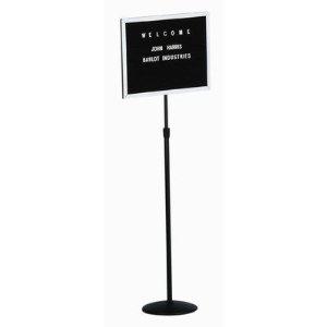 """Aarco SMD1418  Single Pedestal Open Face Letter Board 14"""" x 18"""""""
