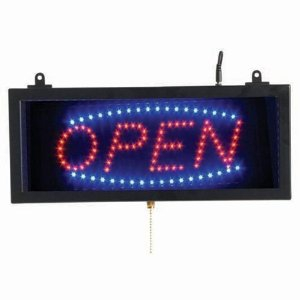 """Aarco OPE02S High Visibility LED Open Sign 6 3/4"""" x 16 1/8"""""""