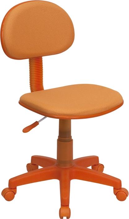 Flash Furniture Orange Fabric Ergonomic Task Chair [BT-698-ORANGE-GG]