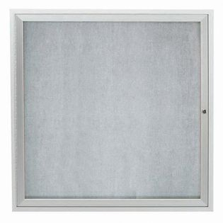 """Aarco ODCC3636RI Outdoor Illuminated Enclosed Bulletin Board with Aluminum Frame 36"""" x 36"""""""