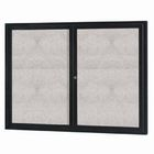 "Aarco ODCC3636RIBK 1 Door Outdoor Illuminated Enclosed Bulletin Board with Black Powder Coated Aluminum Frame 36"" x 36"""