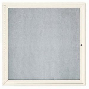 """Aarco ODCC3636RIV 1 Door Outdoor Enclosed Bulletin Board with Ivory Powder Coated Aluminum Frame 36"""" x 36"""""""