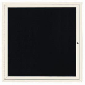 """Aarco OADC3636IV 1 Door Outdoor Enclosed Directory Board with Ivory Anodized Aluminum Frame 36"""" x 36"""""""