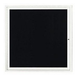 """Aarco OADC3636IW 1 Door Outdoor Illuminated Enclosed Directory Board with White Anodized Aluminum Frame 36"""" x 36"""""""