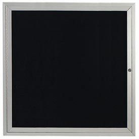 "Aarco OADC3636 1 Door Outdoor Enclosed Directory Board with Aluminum Frame 36"" x 36"""
