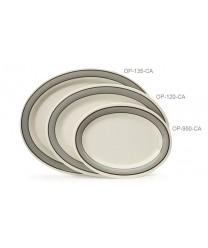"GET Enterprises OP-950-CA Diamond Cambridge Oval Platter, 9-3/4""x 7-1/4""(2 Dozen)"