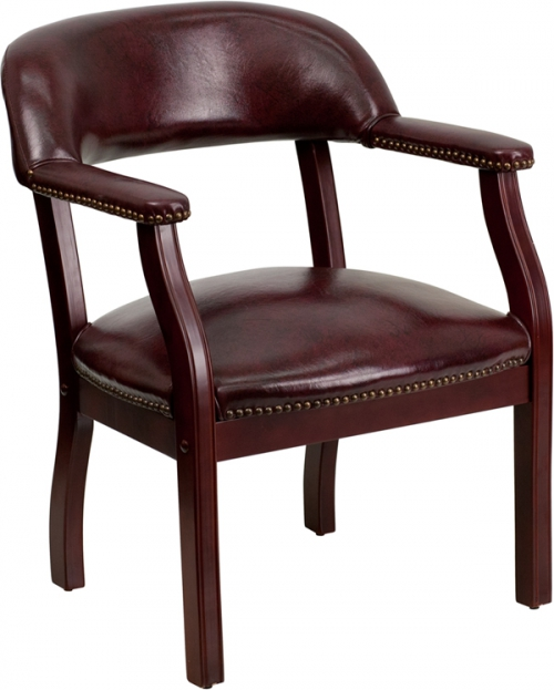 Flash Furniture Oxblood Vinyl Luxurious Conference Chair [B-Z105-OXBLOOD-GG]