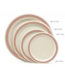 """GET Enterprises NP-6-OX Diamond Oxford Narrow Rim Plate, 6-1/2""""(4 Dozen)"""