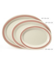 "GET Enterprises OP-120-OX Diamond Oxford Oval Platter, 12""x 9""(1 Dozen)"