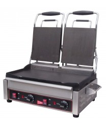 Grindmaster-Cecilware SG2LF Double Panini Sandwich Grill, Flat Surfaces - 240V