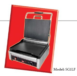 Grindmaster-Cecilware  SG1LF-240 Single Plus Panini Sandwich Grill,  Flat Surface - 240V