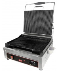 Grindmaster-Cecilware SG1SG Single Panini Sandwich Grill, Grooved Surface - 120V