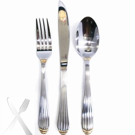 10 Strawberry Street PAR-DF Parisian Gold Dinner Fork 18/0