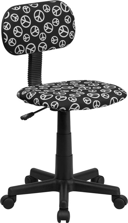 Flash Furniture Peace Sign Printed Computer Chair [BT-PEACE-GG]