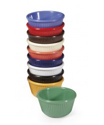 GET Enterprises RM-401-PB Peacock Blue Melamine Fluted Ramekin, 4 oz. (4 Dozen)