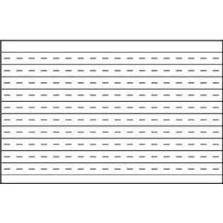 "Aarco PL1204872 Specialty Markerboard with Permanently Fused Penmanship Lines 48"" x 72"""
