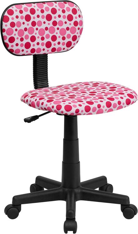 Flash Furniture Pink Dot Printed Computer Chair [BT-D-PK-GG]