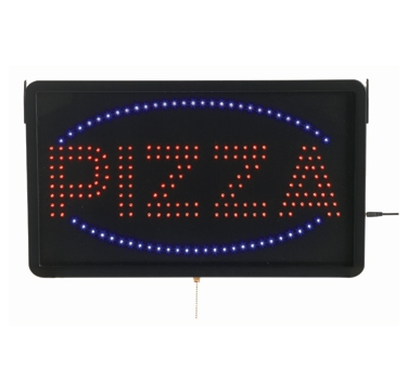 Aarco PIZ01L High Visibility LED PIZZA Sign 13'' x 22''