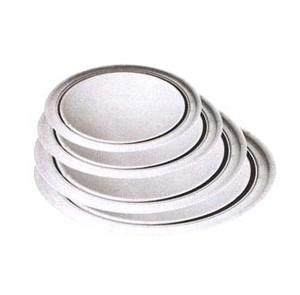 """Winco APZT-14 Wide Rim Aluminum Pizza Pan, 14"""" Dia."""