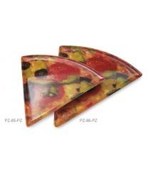 """GET Enterprises PZ-85-PZ Triangle Pizza Plate, 8-3/4""""x 9""""(2 Dozen)"""