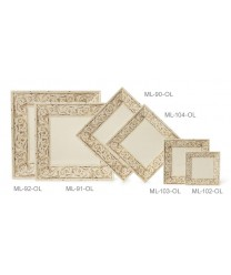 "GET Enterprises ML-104-OL Olympia Square Melamine Plate, 10"" (1 Dozen)"