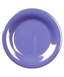 "Thunder Group CR010BU Purple Melamine Wide Rim Round Plate 10-1/2"" (1 Dozen)"