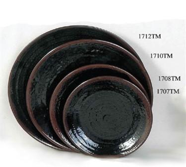 "Thunder Group 1712TM Tenmoku Plate 11-3/4"" (1 Dozen)"