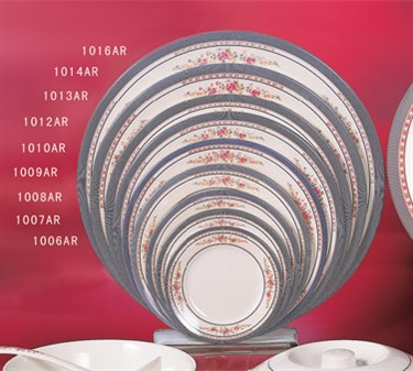 "Thunder Group 1012AR Rose Round Plate 11-3/4"" (1 Dozen)"