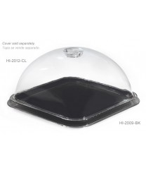 "GET Enterprises HI-2009-BK Black Mediterranean Square Plate, 12""(1 Dozen)"