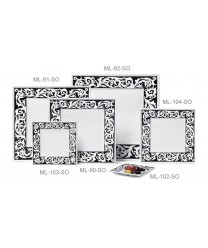 "GET Enterprises ML-90-SO Soho Square Plate, 12""(6 Pieces)"