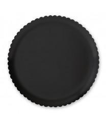"""GET Enterprises HI-2010-BK Black Mediterranean Round Plate, 13""""(6 Pieces)"""