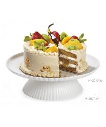 """GET Enterprises HI-2010-W White Mediterranean Round Plate, 13""""(6 Pieces)"""