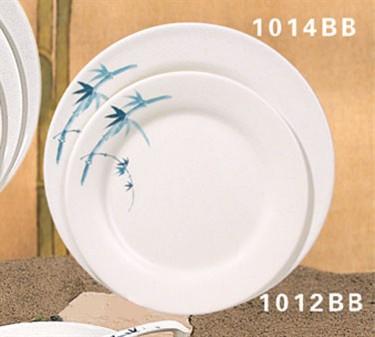 "Thunder Group 1014BB Blue Bamboo Round Plate 14-1/8"" (1 Dozen)"