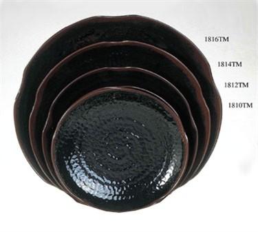 "Thunder Group 1816TM Tenmoku Lotus Shape Plate 16"" (1 Dozen)"