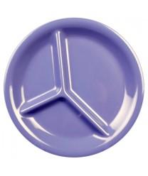 "Thunder Group CR710BU Purple Melamine 3-Compartment Plate 10-1/4"" (1 Dozen)"