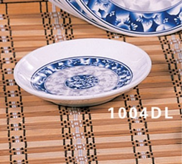 "Thunder Group 1004DL Blue Dragon Round Plate 4-1/2"" (1 Dozen)"