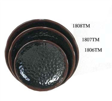 "Thunder Group 1806TM Tenmoku Lotus Shape Plate 6"" (1 Dozen)"