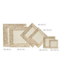 "GET Enterprises ML-102-OL Olympia Square Melamine Plate, 6""(1 Dozen)"