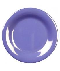 "Thunder Group CR006BU Purple Melamine Wide Rim Round Plate 6-1/2"" (1 Dozen)"