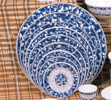 "Thunder Group 1007DL Blue Dragon Round Plate 6-7/8"" (1 Dozen)"