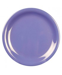 "Thunder Group CR107BU Purple Melamine Narrow Rim Round Plate 7-1/4"" (1 Dozen)"