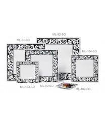 """GET Enterprises ML-103-SO Soho Square Melamine Plate, 8"""" (1 Dozen)"""